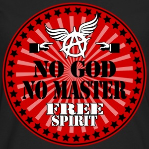 no god no master free spirit Tee shirts - T-shirt manches longues Premium Homme