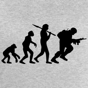 Soldier evolution monkey Warrior T-Shirts - Men's Sweatshirt by Stanley & Stella