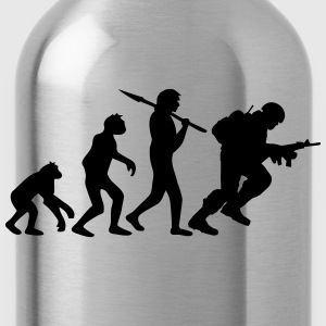 Soldier evolution monkey Warrior T-Shirts - Water Bottle