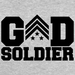 General Sergant God Soldier Logo Design T-Shirts - Men's Sweatshirt by Stanley & Stella
