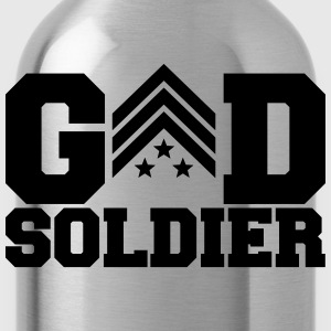 General Sergant God Soldier Logo Design T-Shirts - Water Bottle