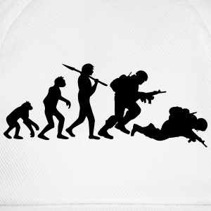 Evolution monkey war dead was stupid Warrior T-Shirts - Baseball Cap