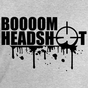 Boom Headshot Sniper Killer Blood Logo T-Shirts - Men's Sweatshirt by Stanley & Stella