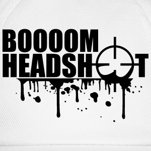Boom Headshot Sniper Killer Blood Logo T-Shirts - Baseball Cap