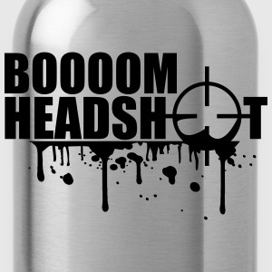Boom Headshot Sniper Killer Blood Logo T-Shirts - Water Bottle