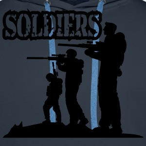 Soldiers squad army shooting fighting T-Shirts - Men's Premium Hoodie