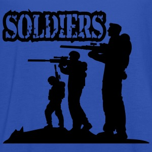 Soldiers squad army shooting fighting T-Shirts - Women's Tank Top by Bella