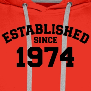 Established 1974 T-Shirts - Männer Premium Hoodie
