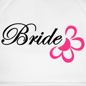 bride with flower T-shirts - Baseballcap