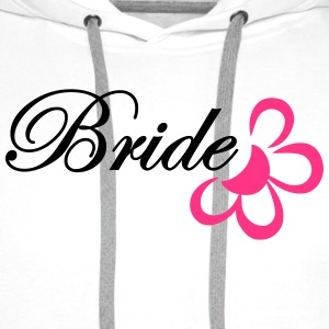 bride with flower T-shirts - Mannen Premium hoodie