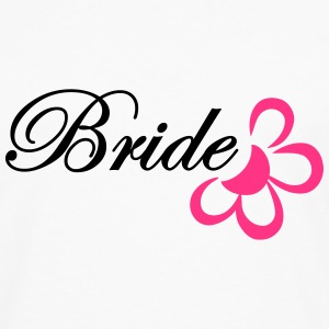 bride with flower T-shirts - Mannen Premium shirt met lange mouwen