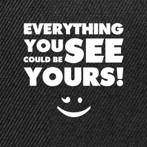 Everything You See(White) - Snapback Cap