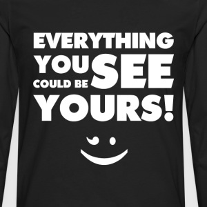 Everything You See(White) - Männer Premium Langarmshirt