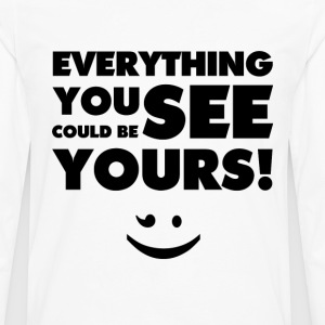 Everything You See(Black) - Männer Premium Langarmshirt