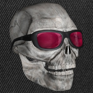 skull with sunglasses 3000 - Czapka typu snapback