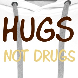 hugs not drugs - Bluza męska Premium z kapturem