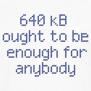 640 kB ought to be enough for anybody - Männer Premium Langarmshirt