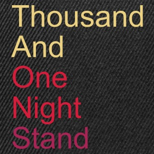 thousand and one night stand 3colors - Casquette snapback