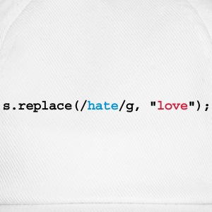 replace hate with love - Baseball Cap