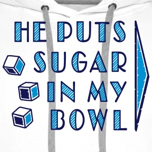 sugar in bowl - for women - Men's Premium Hoodie