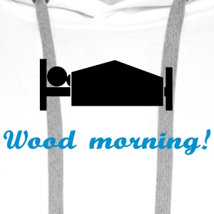 wood morning - Men's Premium Hoodie