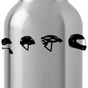 Motorcycle Helmet Evolution T-Shirts - Water Bottle