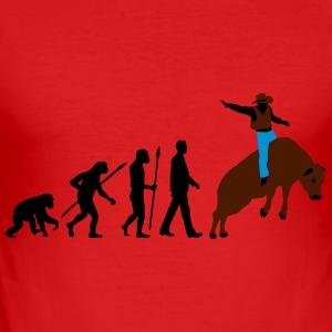 evolution_rodeo_bull_062014_3c Langarmshirts - Männer Slim Fit T-Shirt