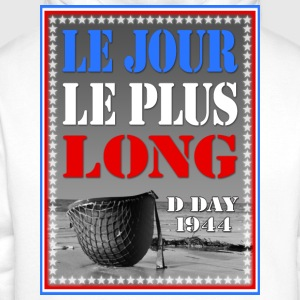 le jour le plus long d day 1944 Tee shirts - Sweat-shirt à capuche Premium pour hommes