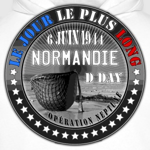 le jour le plus long normandie d day 1944 Tee shirts - Sweat-shirt à capuche Premium pour hommes