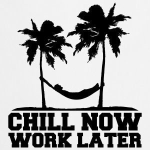 Chill Now Worklater hammock beach palm trees sea T-Shirts - Cooking Apron