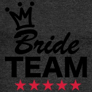 Bride, Team, Wedding, 5 Stars, Crown, Marriage T-Shirts - Women's Boat Neck Long Sleeve Top