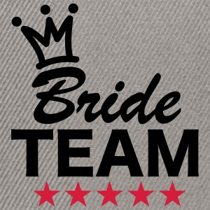 Bride, Team, Wedding, 5 Stars, Crown, Marriage T-Shirts - Snapback Cap