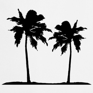 Two palm trees on the beach sun sea T-Shirts - Cooking Apron