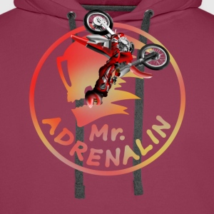 Motocross Mr. Adrenalin T-shirts - Premiumluvtröja herr