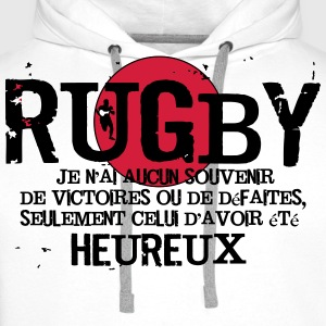 Rugby Came Tee shirts - Sweat-shirt à capuche Premium pour hommes