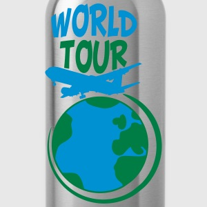 World Tour trip plane earth world T-Shirts - Water Bottle