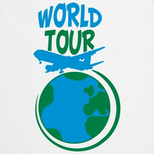 World Tour trip plane earth world T-Shirts - Cooking Apron