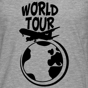 World Tour tur planet earth verden T-skjorter - Premium langermet T-skjorte for menn