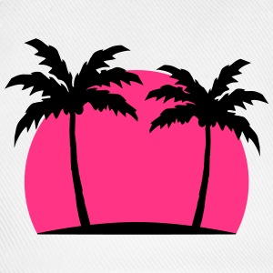 Miami Beach palm beach sea sun Pink T-Shirts - Baseball Cap