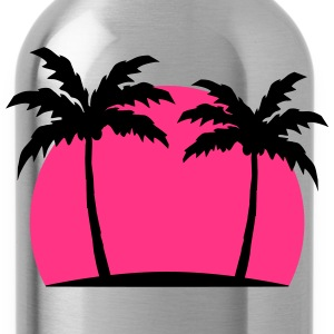 Miami Beach mar palm beach sol Pink Camisetas - Cantimplora
