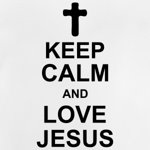 keep_calm_and_love_jesus_g1 Skjorter - Baby-T-skjorte