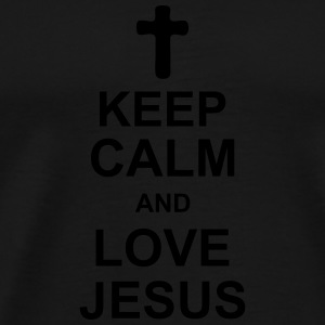 keep_calm_and_love_jesus_g1 Bottles & Mugs - Men's Premium T-Shirt