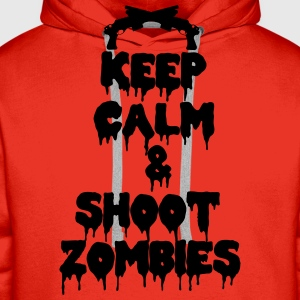 Keep calm and kill zombies shoot T-shirts - Herre Premium hættetrøje