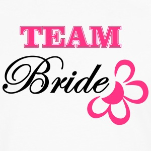 bride TEAM with flower T-shirts - Mannen Premium shirt met lange mouwen