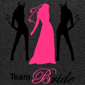team bride devil angel T-shirts - Snapback cap