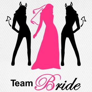 team bride 2 colors devil angel T-Shirts - Baseballkappe
