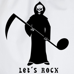 Grim Reaper with music note T-Shirts - Drawstring Bag