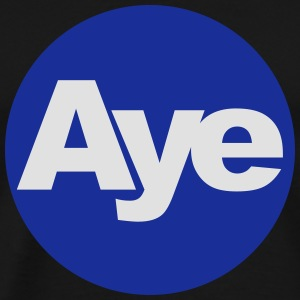 Aye Scotland Blue and White 2Colour Logo Hoodies & - Men's Premium T-Shirt