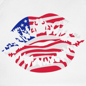 USA Amerika Flag Fan Kiss T-shirts - Baseballkasket