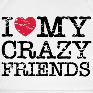I Heart My Crazy Friends T-shirts - Basebollkeps